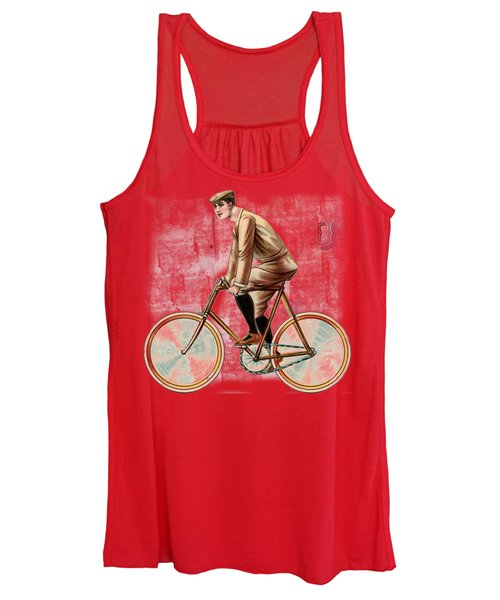 Cycling Man T Shirt Design Women's Tank Top