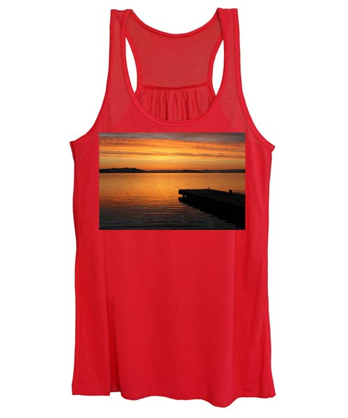 Dawn On The Water At Dusavik Women's Tank Top