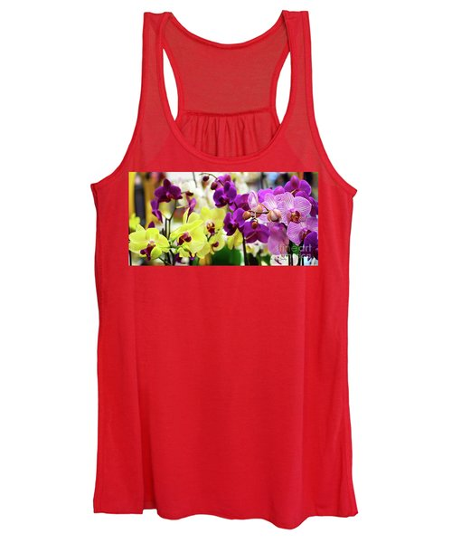 Decorative Orchids Still Life C82418 Women's Tank Top