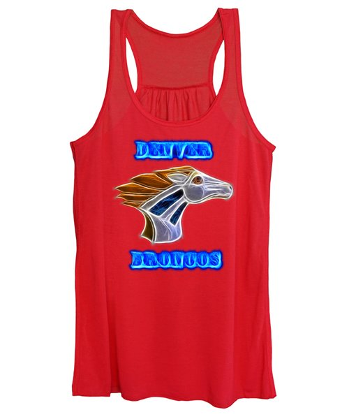 Women's Tank Top featuring the photograph Denver Broncos 2 by Shane Bechler
