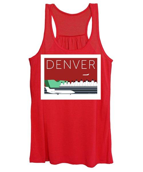 Denver Dia/maroon Women's Tank Top