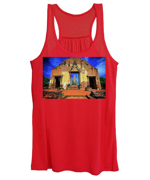 Doorway To Wat Ratburana In Ayutthaya, Thailand Women's Tank Top
