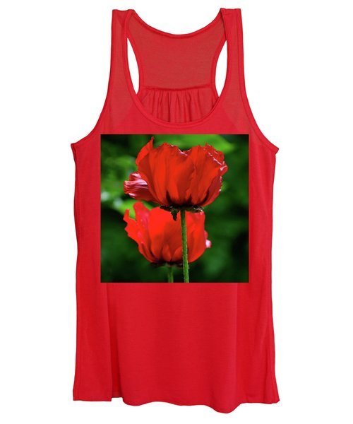 Double Red Poppies Women's Tank Top