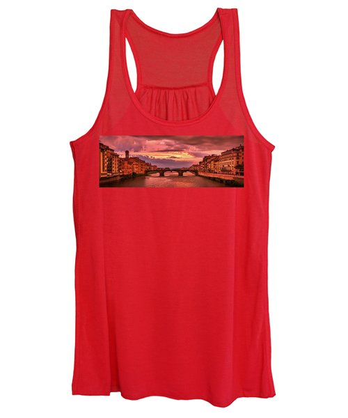 Dreamlike Sunset From Ponte Vecchio Women's Tank Top