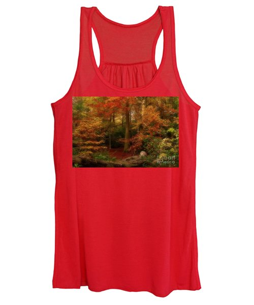 Dreamy Forest Glade In Fall Women's Tank Top