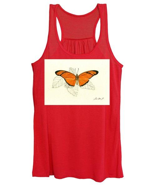 Dryas Iulia, Orange Julia Butterfly Women's Tank Top
