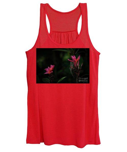 Dual Red Plumerias Women's Tank Top