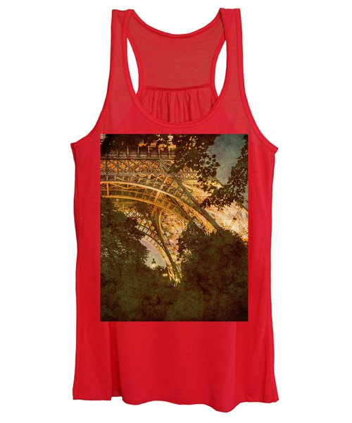 Paris, France - Eiffel Oldplate II Women's Tank Top