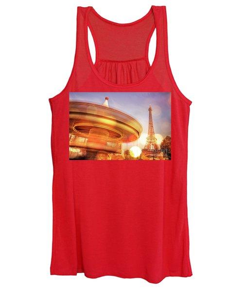 Eiffel Tower Carousel Women's Tank Top