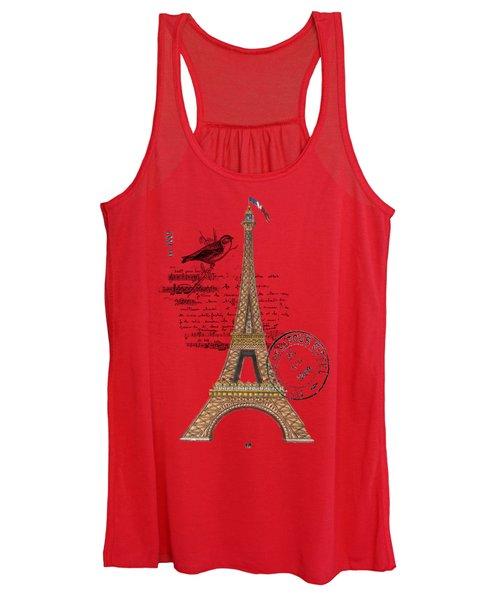 Eiffel Tower T Shirt Design Women's Tank Top