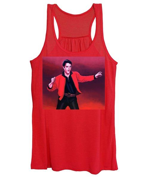 Elvis Presley 4 Painting Women's Tank Top