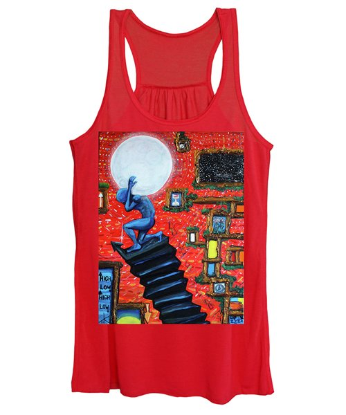 Energy Flow, The Active Space And The Effects Of The Rising Moon Women's Tank Top