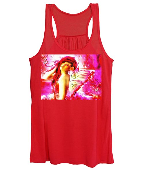 Fairy Angel In The Mix In Thick Paint Women's Tank Top