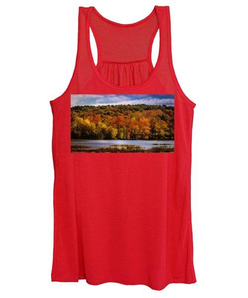Fall On Springfield Lake Women's Tank Top