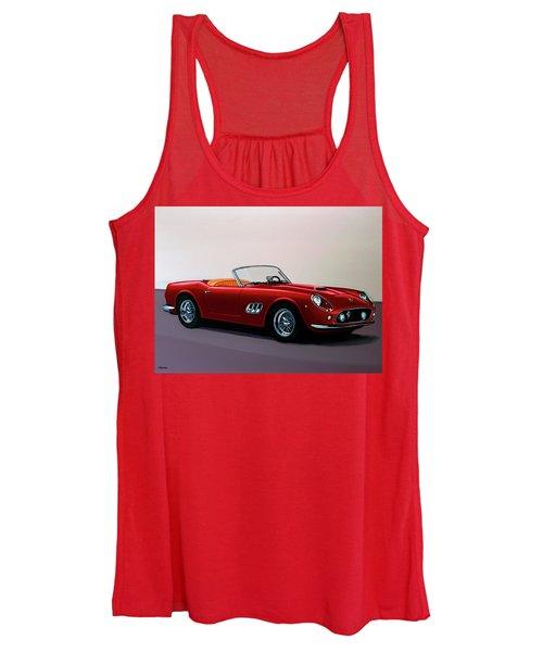 Ferrari 250 Gt California Spyder 1957 Painting Women's Tank Top