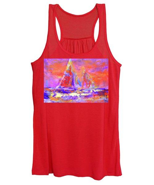 Festive Sailboats 11-28-16 Women's Tank Top