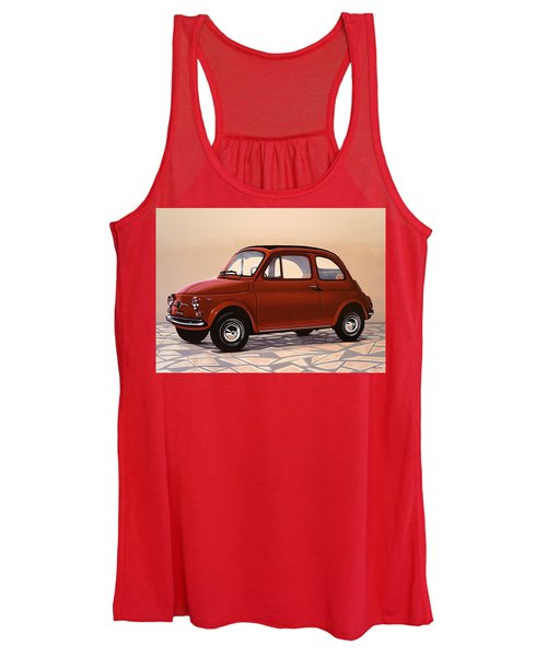 Fiat 500 1957 Painting Women's Tank Top