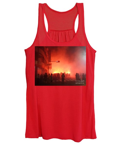 Fireworks During A Temple Procession Women's Tank Top