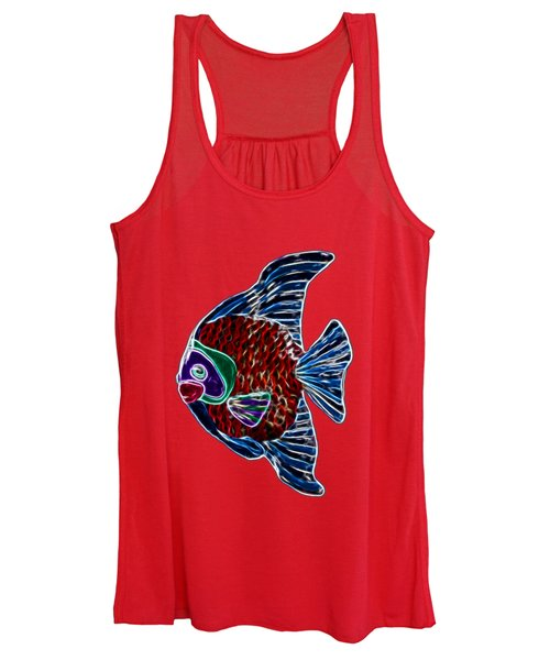 Women's Tank Top featuring the photograph Fish In Water by Shane Bechler