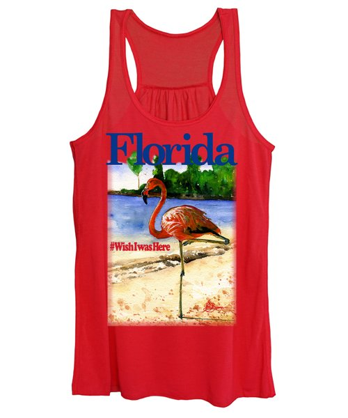 Flamingo In Florida Shirt Women's Tank Top