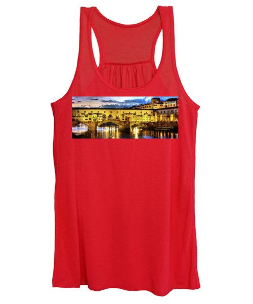 Florence - Ponte Vecchio Sunset From The Oltrarno - Vintage Version Women's Tank Top