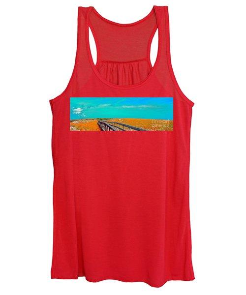 Florida Sand Dunes Atlantic New Smyrna Beach Women's Tank Top