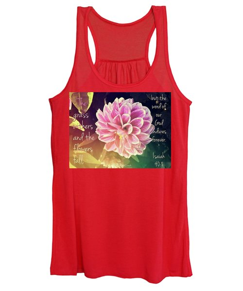Flower With Scripture Women's Tank Top