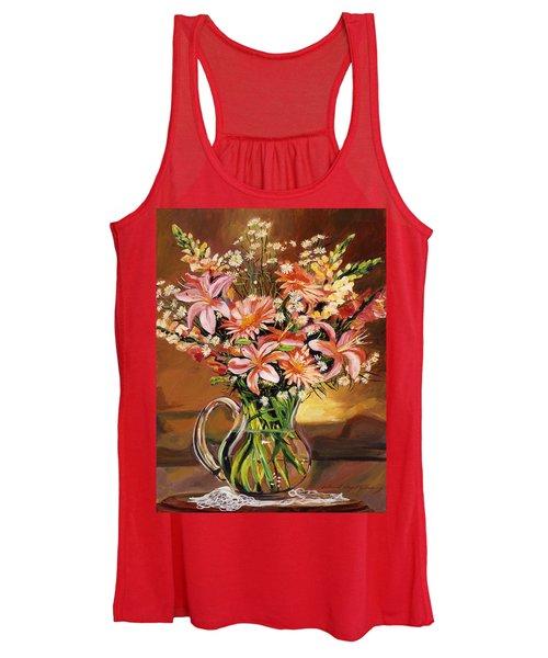 Flowers In Glass Women's Tank Top