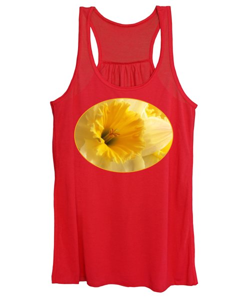 Focus On Spring - Daffodil Close Up Women's Tank Top
