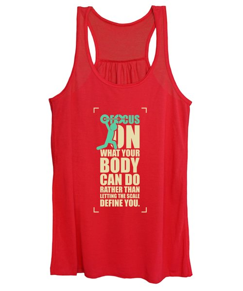 Focus On Your Body Gym Quotes Poster Women's Tank Top