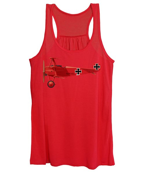 Fokker Dr.1 - The Red Baron - March 1918 Women's Tank Top
