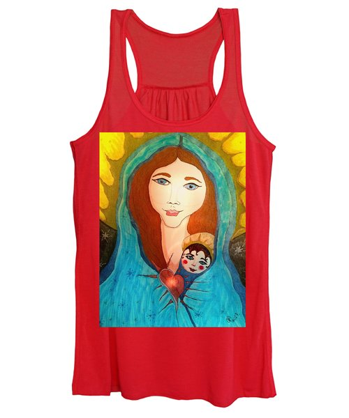 Folk Mother And Child Women's Tank Top