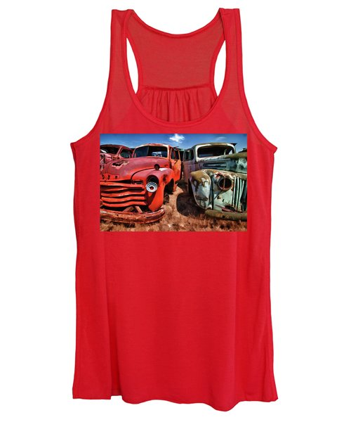 Ford And Chevy Standoff Women's Tank Top