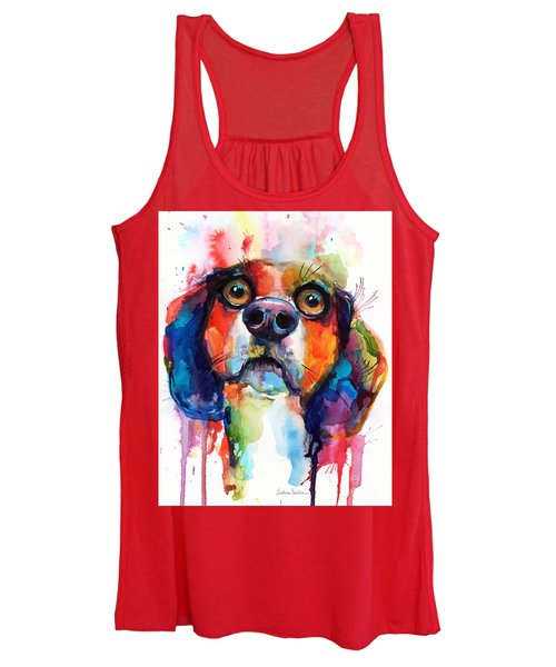 Funny Beagle Dog Art Women's Tank Top
