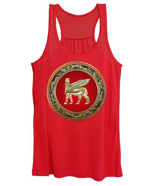 Golden Babylonian Winged Bull  Women's Tank Top