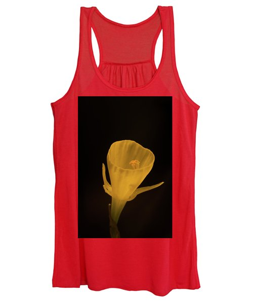 Golden Bells Carpet Daffodil With Black Background Women's Tank Top