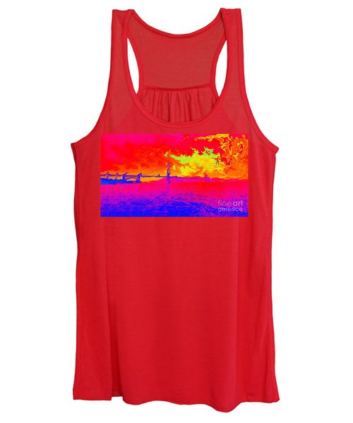 Golden Gate Mod Pop Women's Tank Top