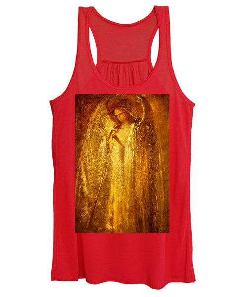 Golden Light Of Angel Women's Tank Top