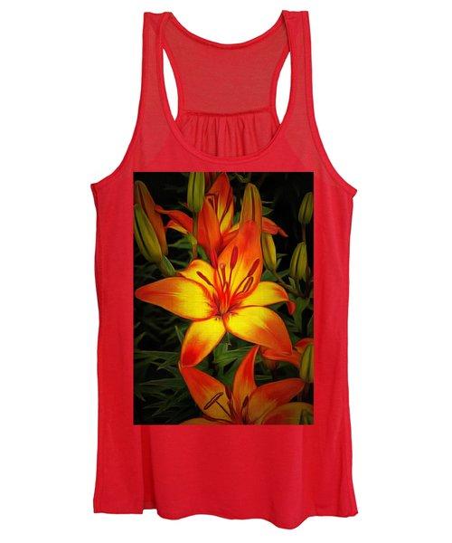 Golden Lilies Women's Tank Top