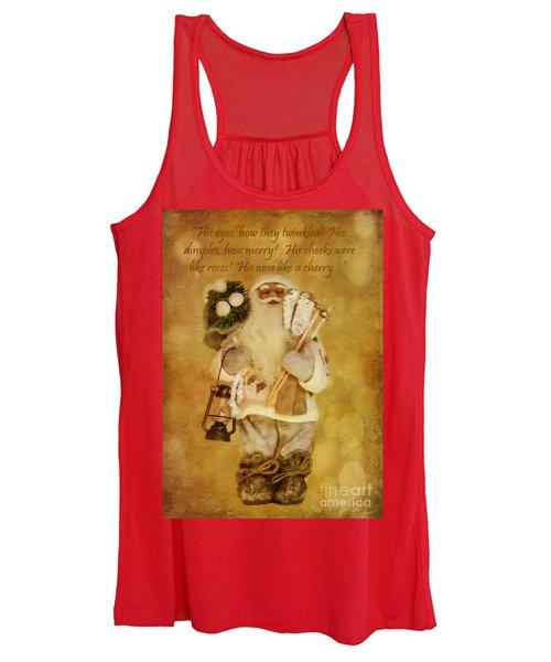 Golden Santa Card 2015 Women's Tank Top