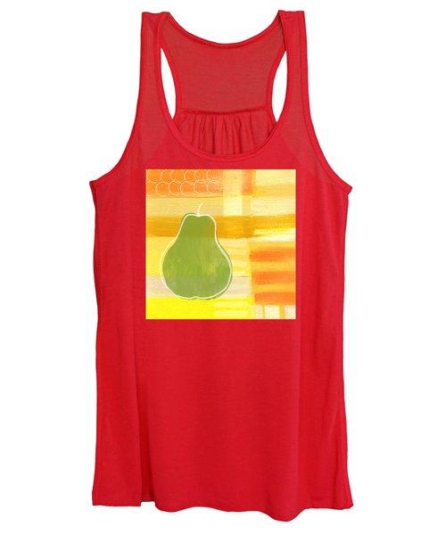 Green Pear- Art By Linda Woods Women's Tank Top