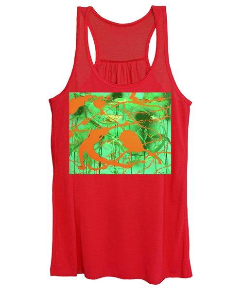 Green Spill Women's Tank Top