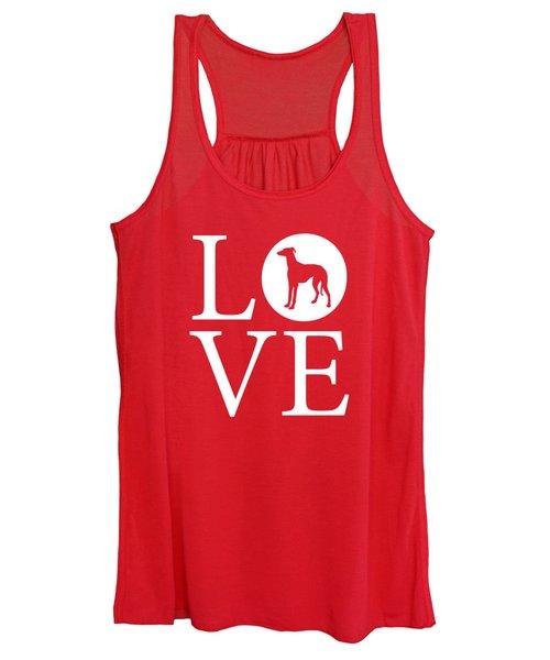 Greyhound Love Red Women's Tank Top