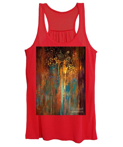 Women's Tank Top featuring the painting Growth by Tithi Luadthong