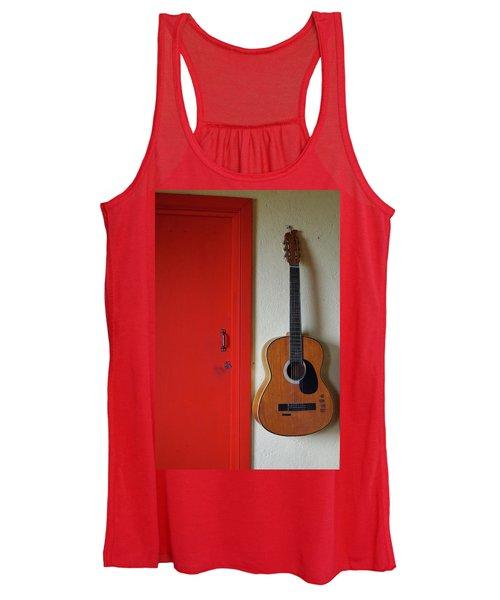 Guitar And Red Door Women's Tank Top