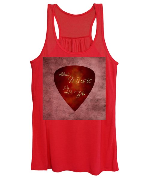 Guitar Pick - Without Music Women's Tank Top