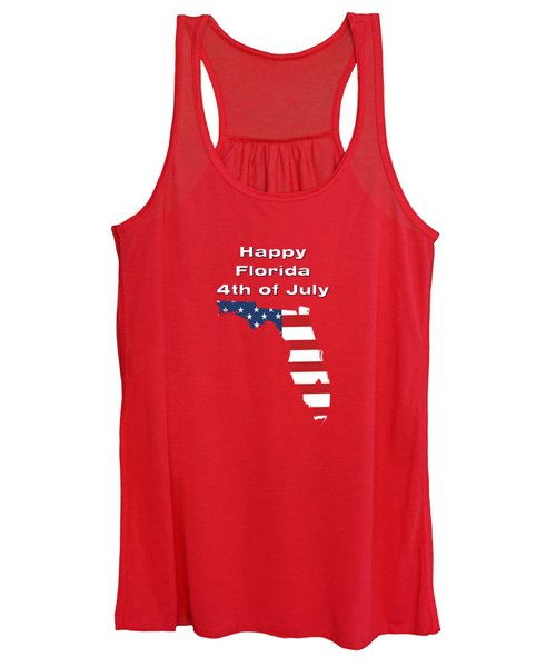 Happy Florida 4th Of July Women's Tank Top