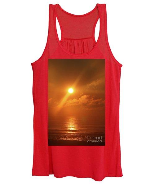 Hazy Orange Sunrise On The Jersey Shore Women's Tank Top