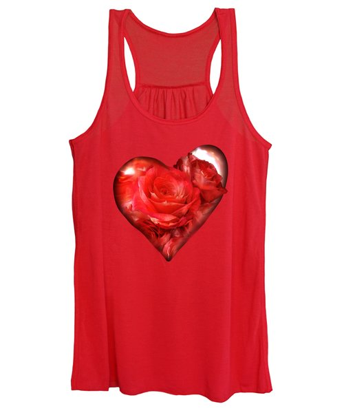 Heart Of A Rose - Red Women's Tank Top