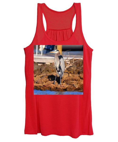Heron On The Rocks Women's Tank Top